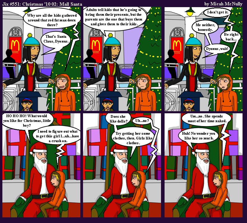 551. Christmas '10 02: Mall Santa