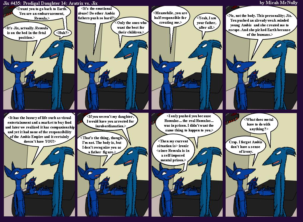 435. Prodigal Daughter 14: Aratrix vs. Jix
