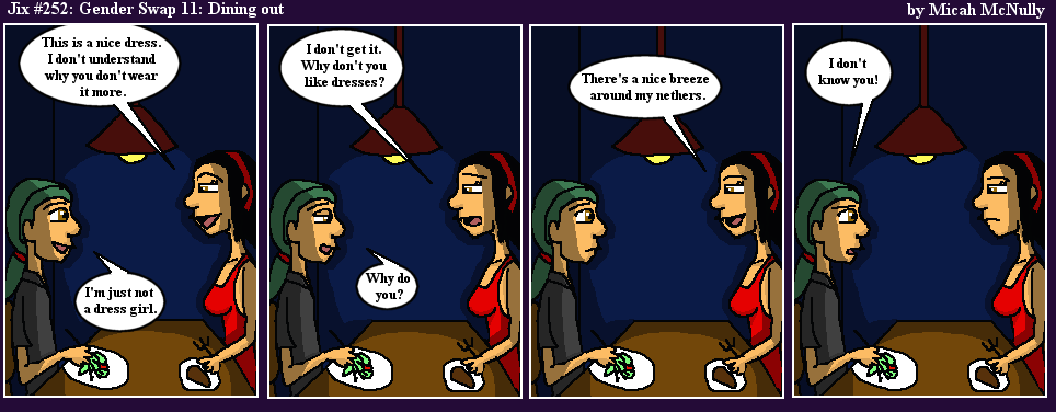 252. Gender Swap 11: Dining Out