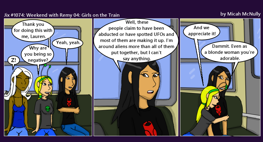 1074. Weekend with Remy 04: Girls on the Train
