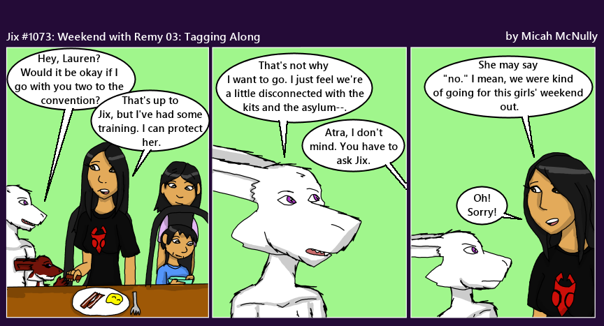 1073. Weekend with Remy 03: Tagging Along