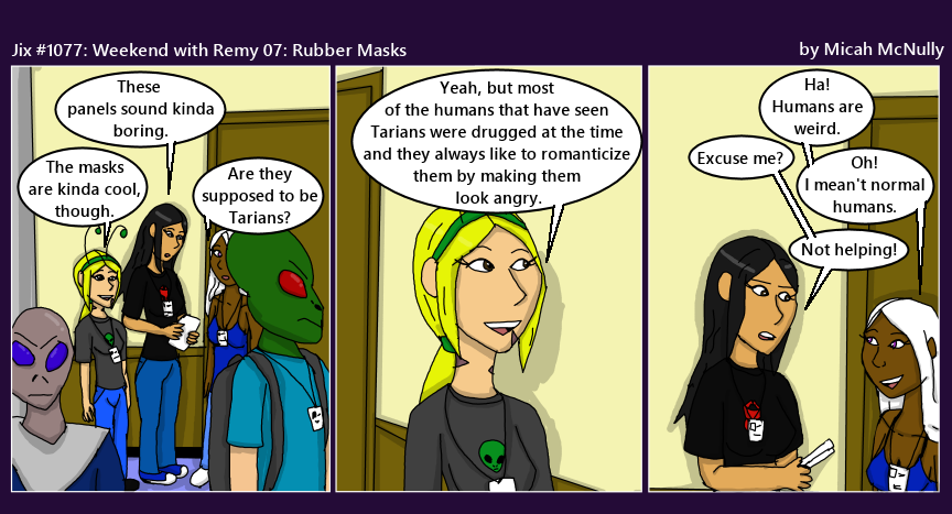 1077. Weekend with Remy 07: Rubber Masks