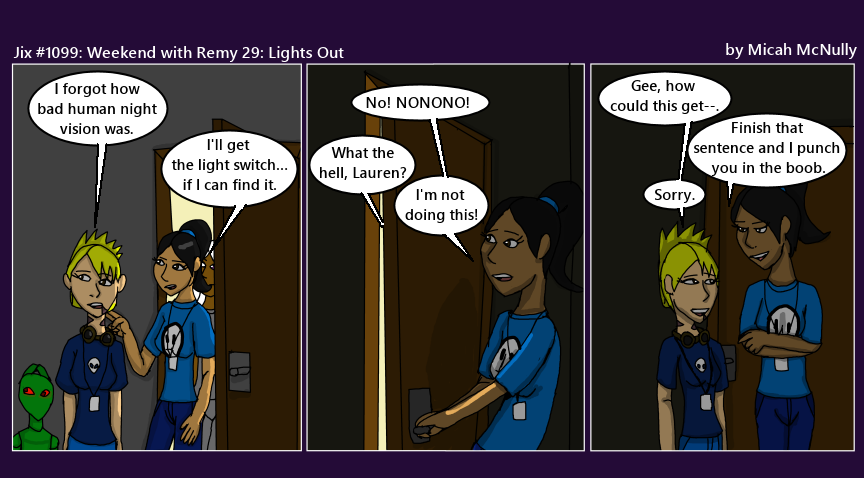 1099. Jix #1099; Weekend with Remy 29: Lights Out
