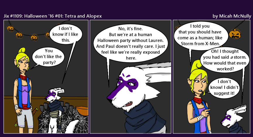 1109. Halloween '16 #01: Tetra and Alopex