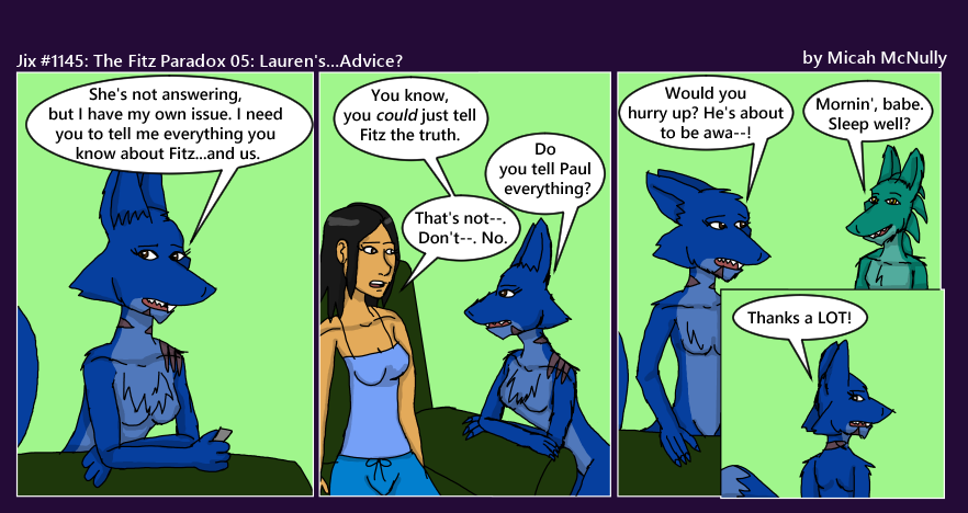 1145. The Fitz Paradox 05: Lauren's...Advice?