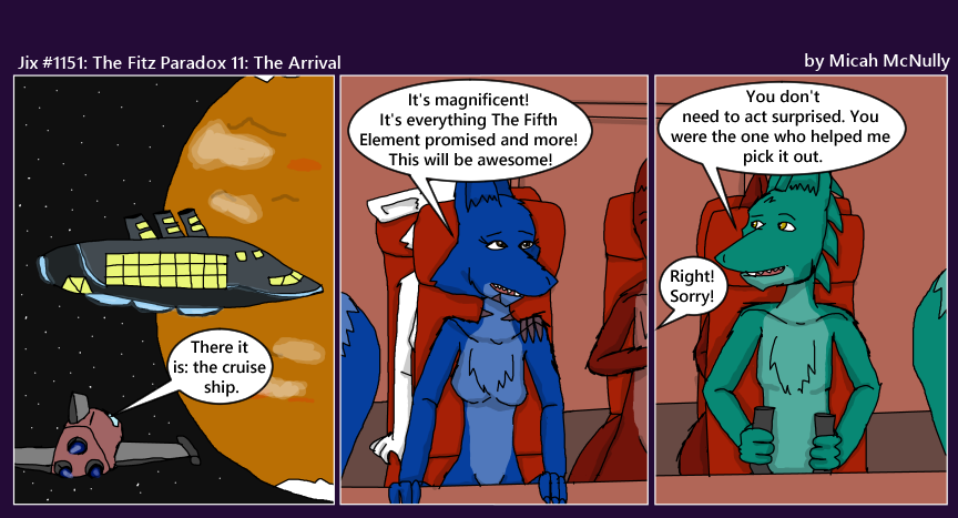 1151. The Fitz Paradox 11: The Arrival