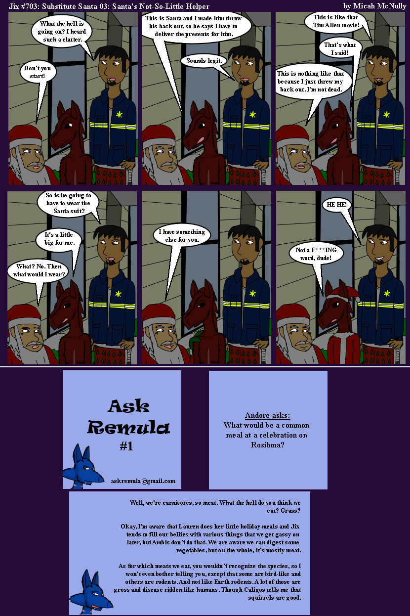 703. Substitute Santas 03: Santa's Not-So-Little Helper (With Ask Remula 01)