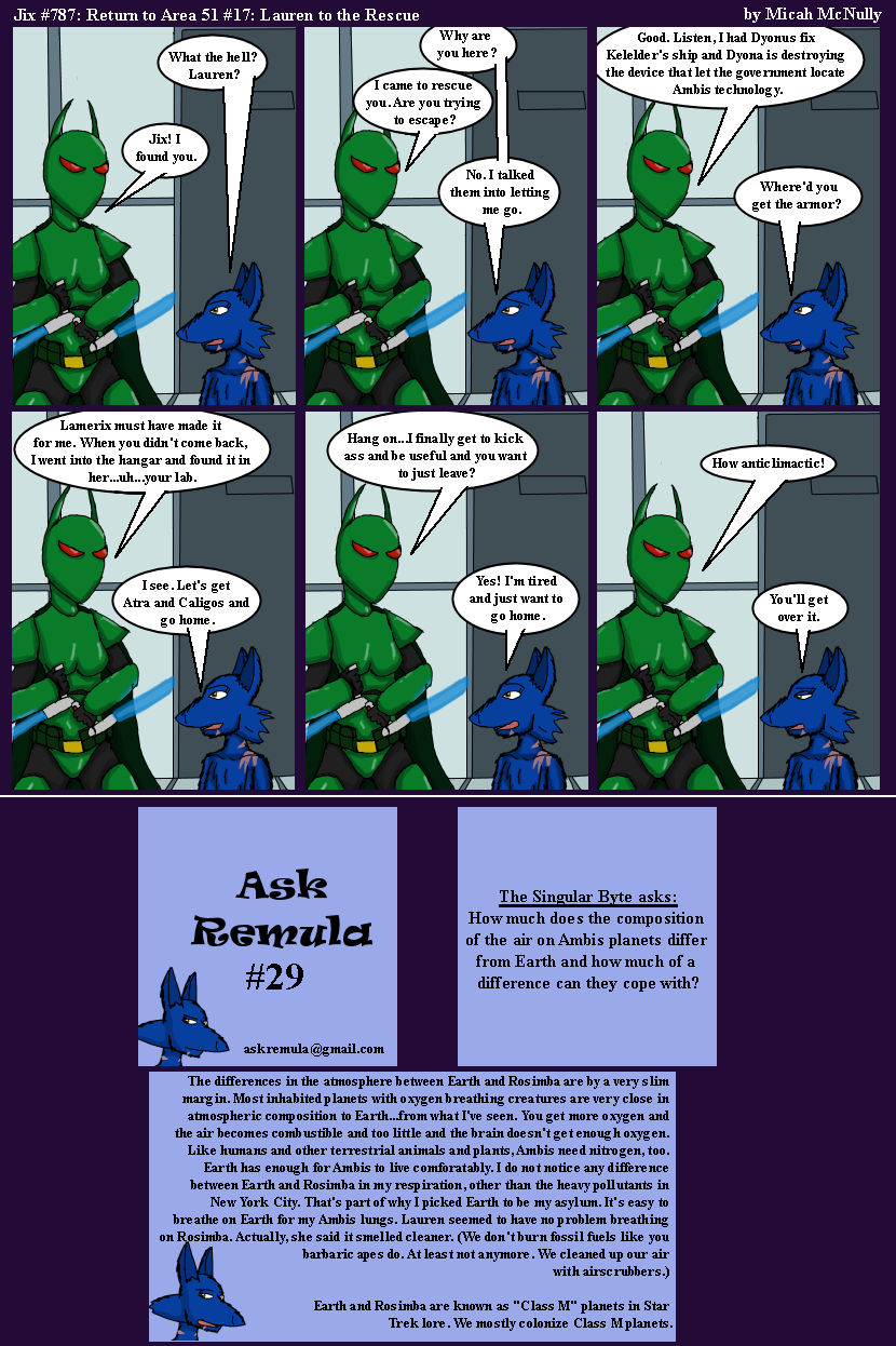 787. Return to Area 51 #17: Lauren to the Rescue (With Ask Remula #29)