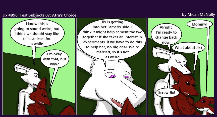998. Test Subjects 07: Atra's Choice